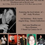 Headlined a charity gig
